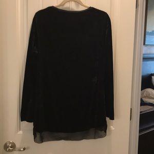 Black, light weight crushed velvet top.